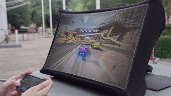 Представлен портативный и складной 24-дюймовый экран